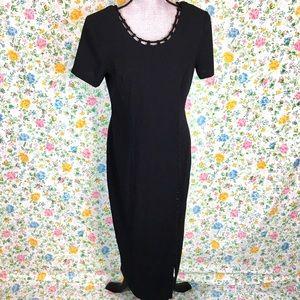 Vintage 80s 90s Kathie Lee Short Sleeve Dress